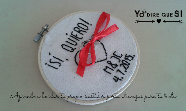 Bastidor bordado para tu boda. Tutorial y plantilla descargable.
