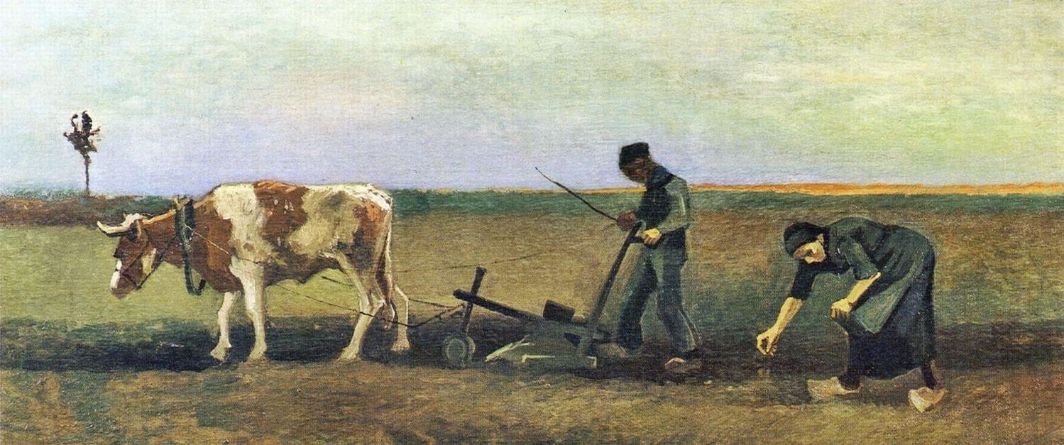 Image result for Van gogh Van Gogh, Potato Planting (1884, Von der Heydt-Museum Wuppertal),