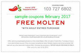 Chili's coupons february