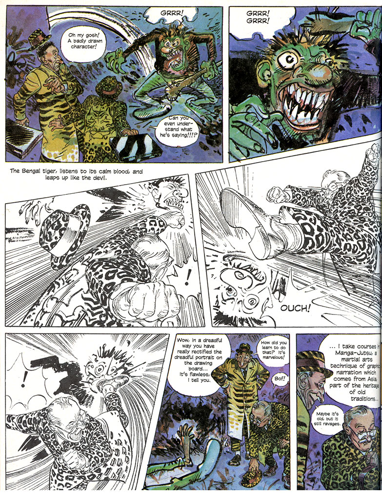 Manga-Jutsu by François Boucq, published in Heavy Metal Magazine, September 1997.