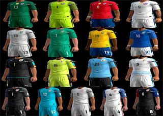 Kits: Chile, Brasil, Uruguay Usa, Pes 2013