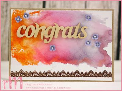 Stampin' Up! rosa Mädchen Kulmbach: Glückwunschkarten mit Aquarellregenbogen, Festliche Fäustlinge, Grüße rund ums Jahr und Delicate Details