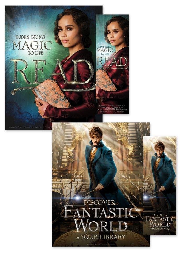 Leta Newt E Harry Aparecem Em Cartazes Pró Leitura De Harry Potter