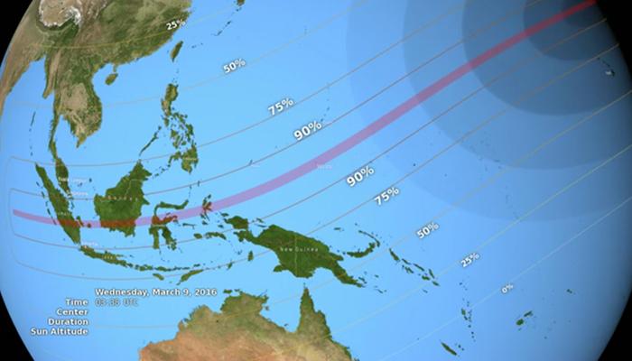 Gerhana Matahari Total di Indonesia, Tahun 2016