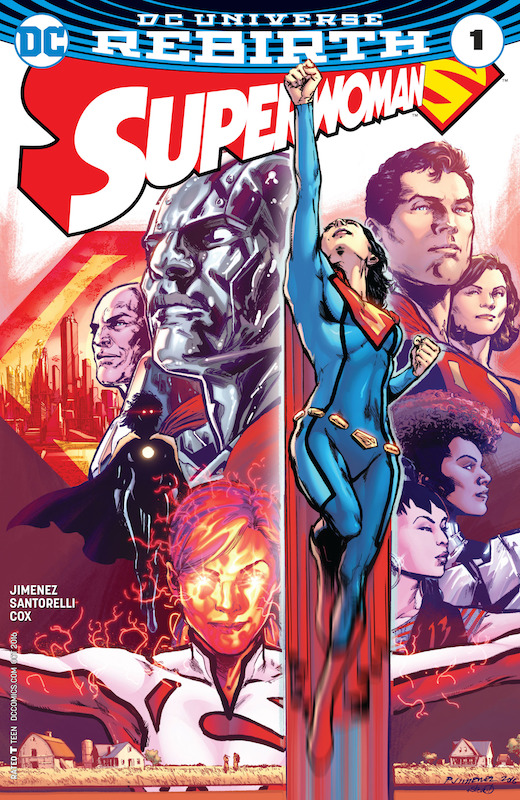 Superwoman #1: Story/Art: Phil Jimenez Inks: Matt Santorelli Colors: Jeremy Cox Covers: Steve Downer, Terry Dodson, Rachel Dodson  Lois Lane created by Jerry Siegel and Joe Shuster. Lana Lang created by Bill Finger and John Sikela.