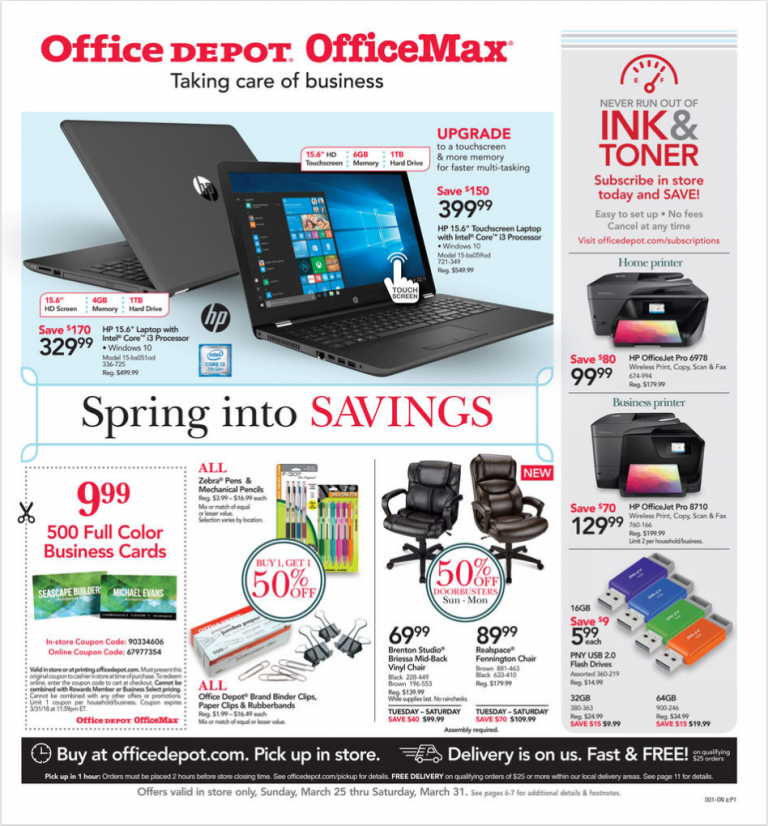 Office depot weekly ad march 25 31 2018 office max coupons office depot weekly ad march 25 31 2018 office max reheart