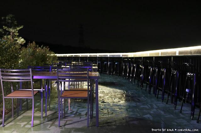 IMG 9929 - 台中沙鹿│帆杋望海。超級隱密的夜景咖啡廳!繽紛色彩貨櫃屋在夜裡也超夢幻!