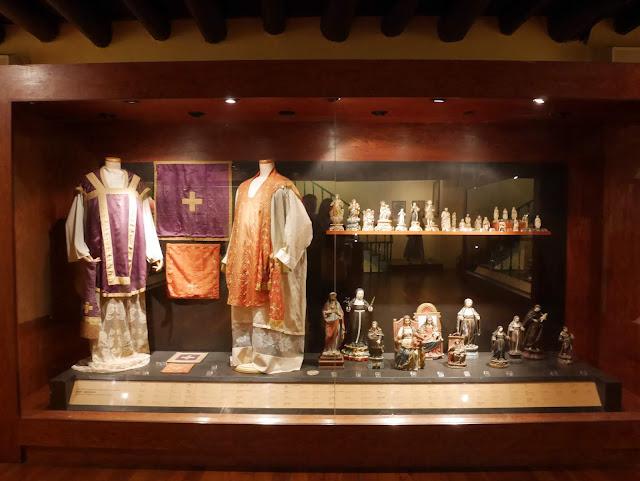 exhibits inside the Treasures of Sacred Arts Museum, Macau