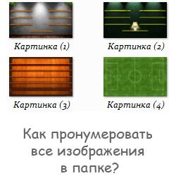 Как пронумеровать все изображения в папке?