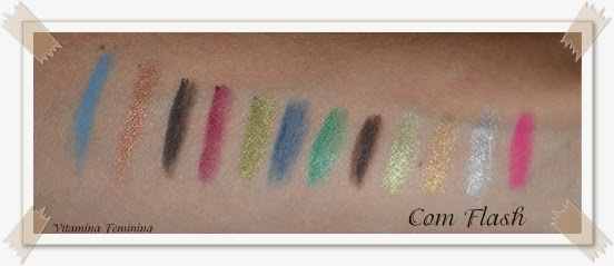 Swatches dos Mini lápis delineadores da China