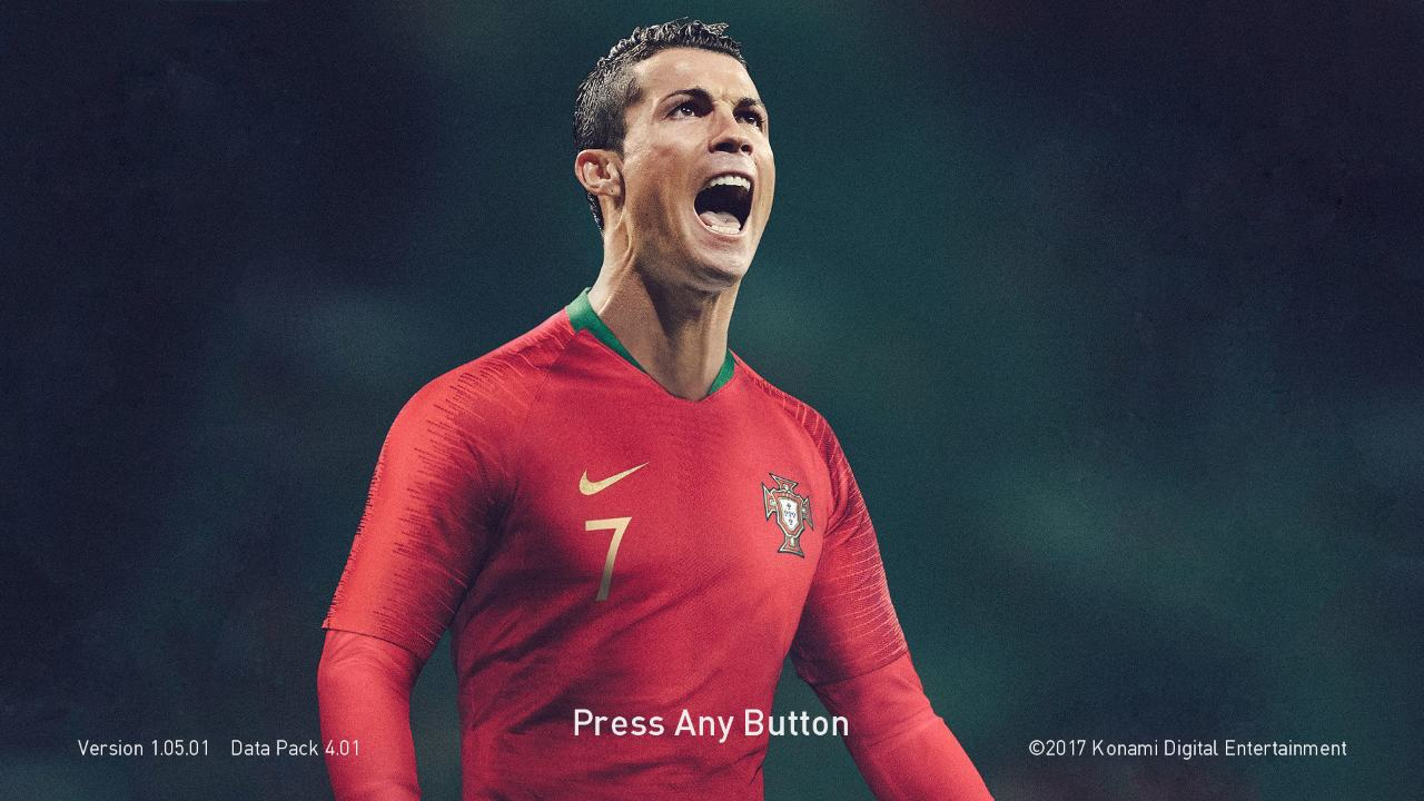 PES 2018 and PES 2017 CR7 Portugal Start Screen by ABW