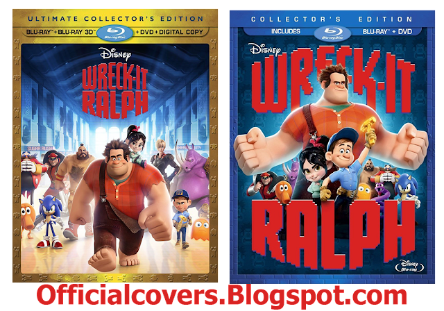 Latest Bluray & HD Covers: Wreck-It Ralph 2D+3D Blu-ray
