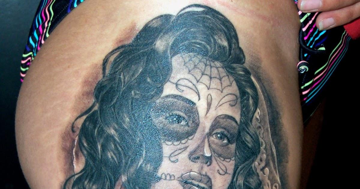 Cosafina Tattoo Carlos Art Studio Tatuaje Catrina Chicana Mejicana