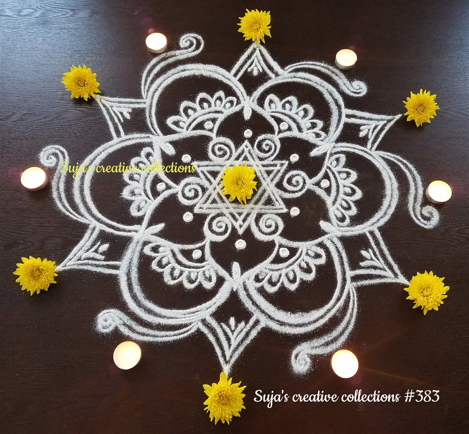 Suja S Creative Collections New Year Special Rangoli Designs