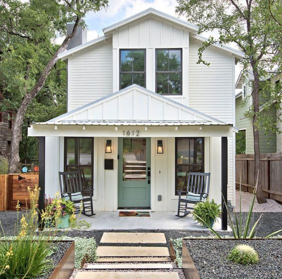 How Modern Farmhouse Exteriors Are Evolving: Get The Look! Modern Farmhouse Exterior {6 Design Lessons