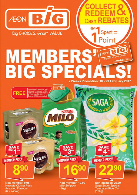 Malaysia AEON BiG Members' Big Specials Discount Promotion Catalogue