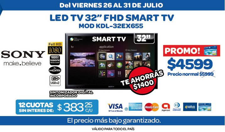 ofertas y promos en argentina promos carrefour led tv sony. Black Bedroom Furniture Sets. Home Design Ideas