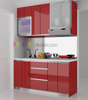 Kitchenset pelangi desain interior desain dapur apartemen for Kitchen set mungil