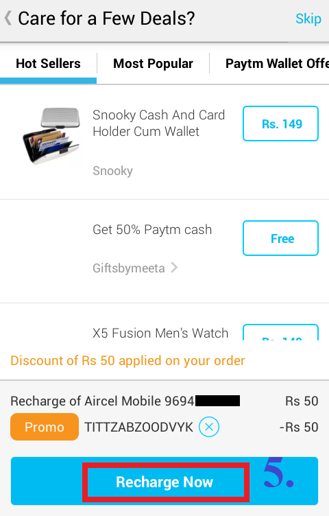how to recharge mobile with paytm app