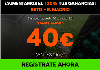 888sport supercuota Betis vs Real Madrid
