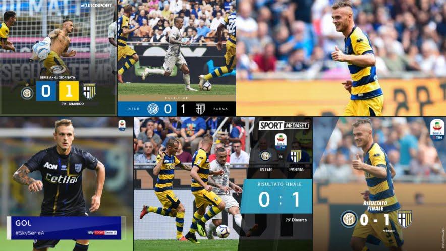 Calcio Serie A: Clamorosa vittoria esterna del Parma sul campo dell'Inter.