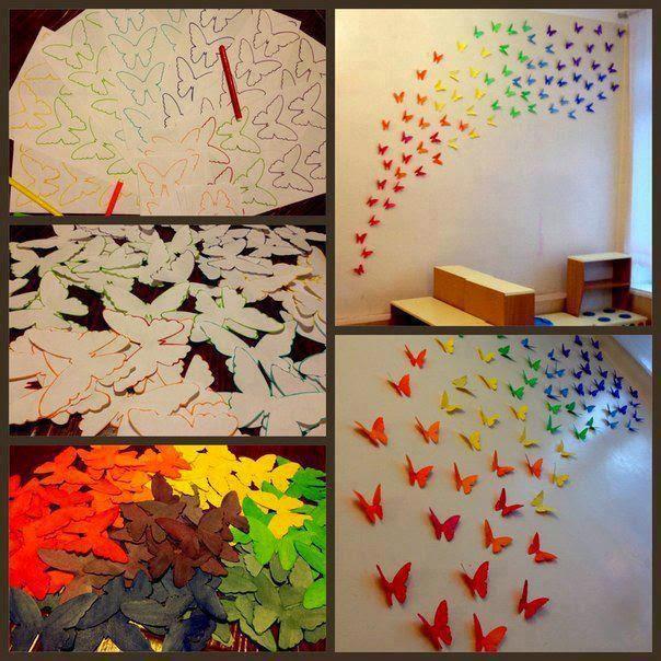 Cara Mendekorasi Dinding Dengan Kupu-kupu