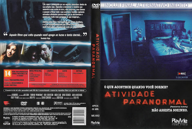 Capa DVD Atividade Paranormal