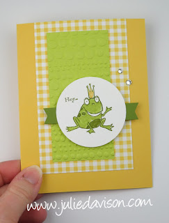Stampin' Up! Sale-a-Bration 2019 So Hoppy Together Exploding Pop-Up Card ~ www.juliedavison.com
