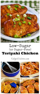Low-Sugar (or Sugar-Free) Teriyaki Chicken found on KalynsKitchen.com