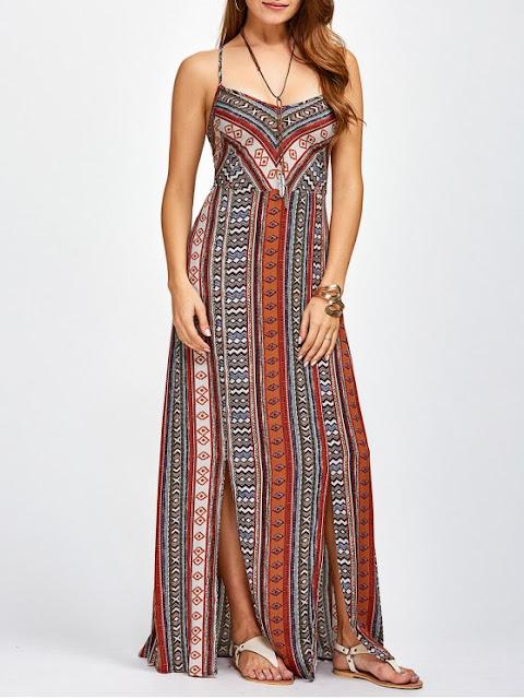 Sweetheart Cami Maxi Bohemian Dress