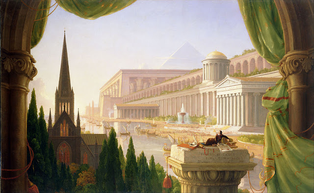 painting, Architect's Dream (1840) by Thomas Cole
