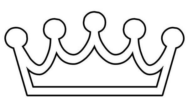 Dessins et coloriages coloriage moyen format imprimer une couronne basique et simple - Coloriage couronne ...