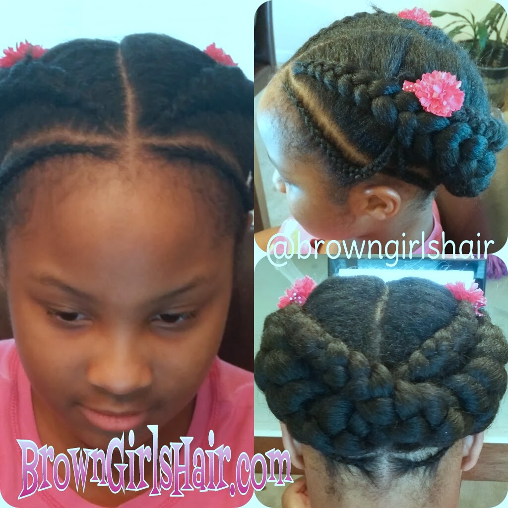 ♥Brown Girls Hair♥ 2 Quick Cornrow Styles
