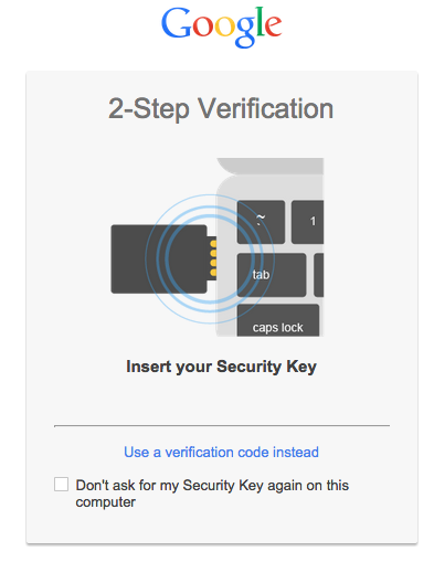one more layer of security to google account with security key