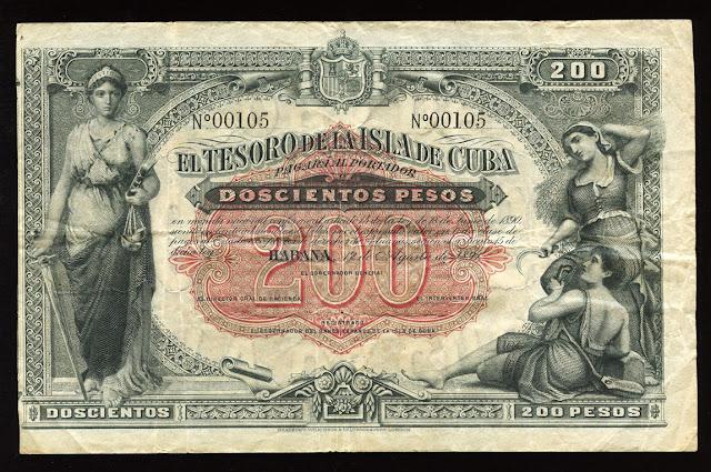 Cuban banknotes pesos United States Treasury Notes