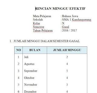 Minggu Efektif Tahun Ajaran 2016/2017