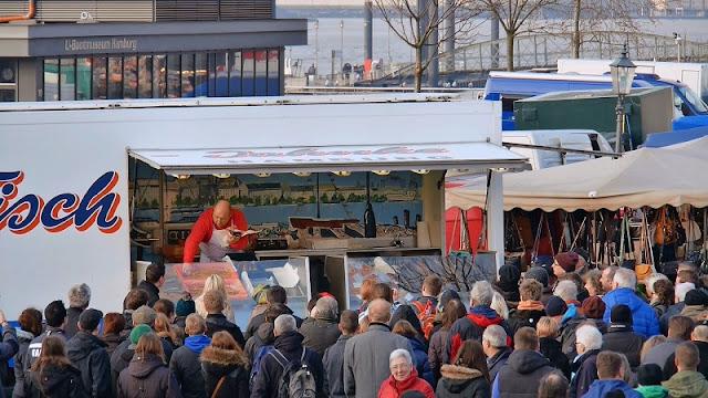 Mercado de Peixe em Hamburgo