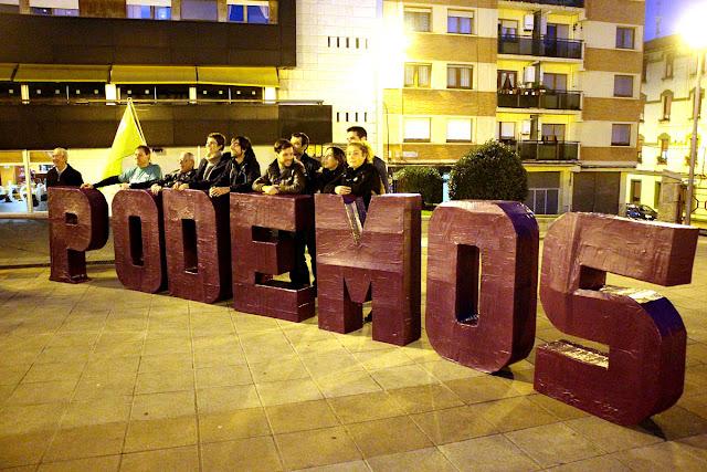 Acto electoral de Podemos en el parque de Los Hermanos