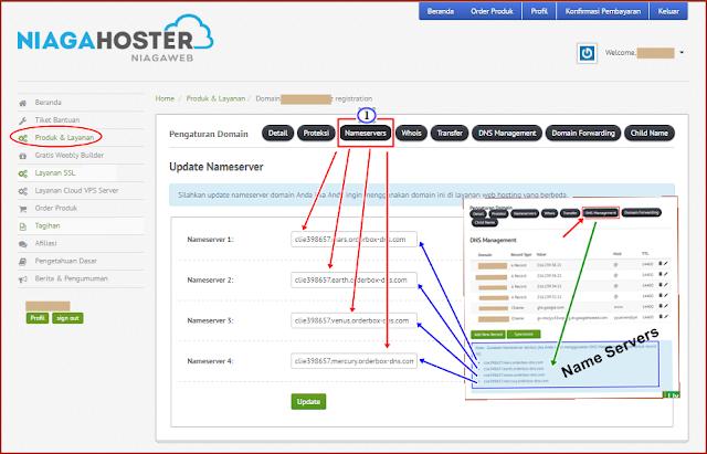 Panduan Cara Setting Name Servers di NiagaHoster Penyedia Layanan - Webhosting