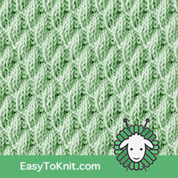 Knit Purl 42: Left Diagonal   Easy to knit #knittingstitches #knitpurl