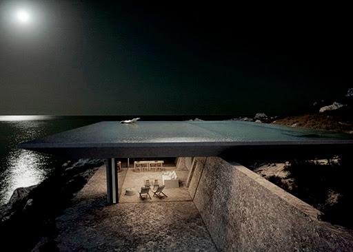 Piscina infinita en el mar Egeo    Atenas Kois Associated Architects