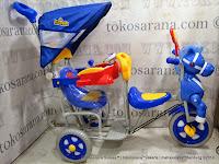 Sepeda Roda Tiga Family F9021T 2 Kursi Kuda Seri Pesawat