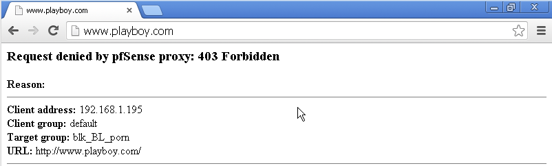 DriveMeca personalizando la pagina de error de SquidGuard en pfSense