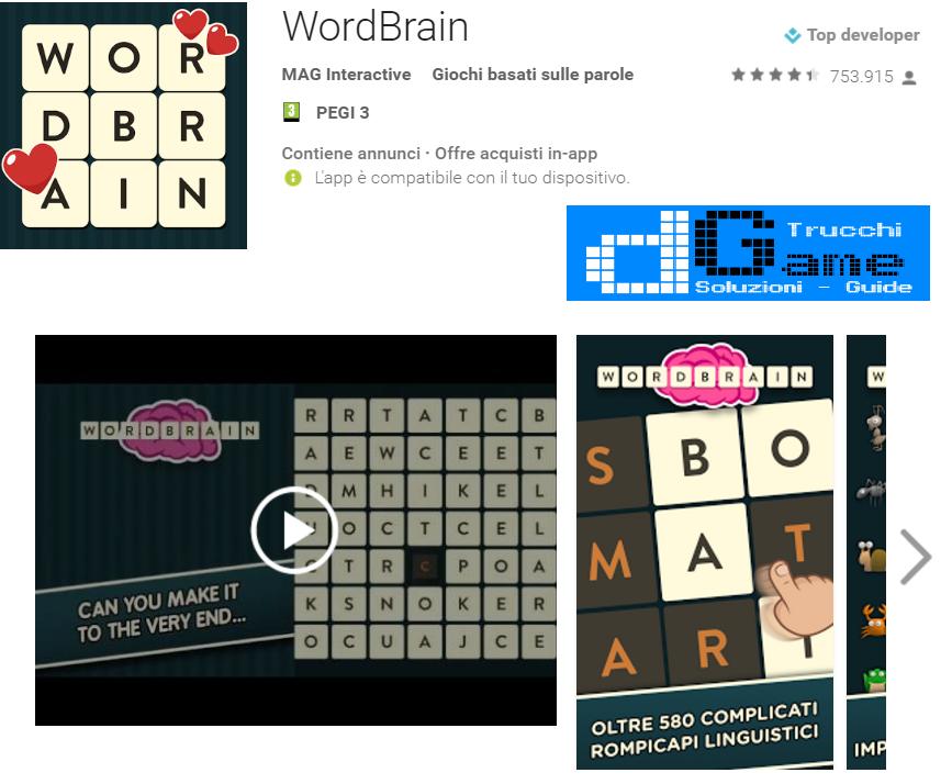 Soluzioni Wordbrain di tutti i livelli | Walkthrough guide
