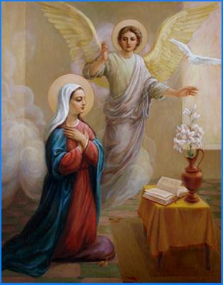 Resultado de imagem para aparição do anjo a maria