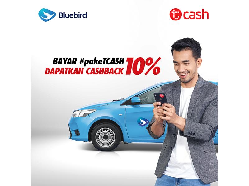 Bluebird - Promo Caschback 10 % Bayar Pakai Tcash di Aplikasi BlueBird (s.d 30 Nov 2018)