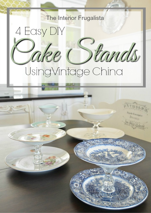 Easy DIY Tiered Cake Stands using mismatched inherited china