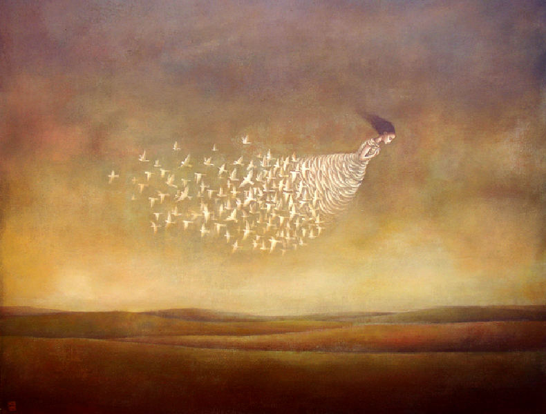 Duy Huynh 1975 - Vietnamese Symbolist and Surrealist painter