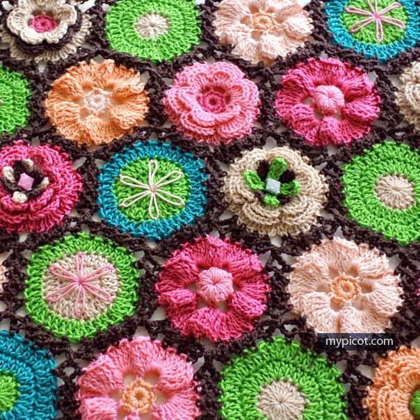 Ergahandmade Crochet Flower Motifs For Blanket Diagrams Free