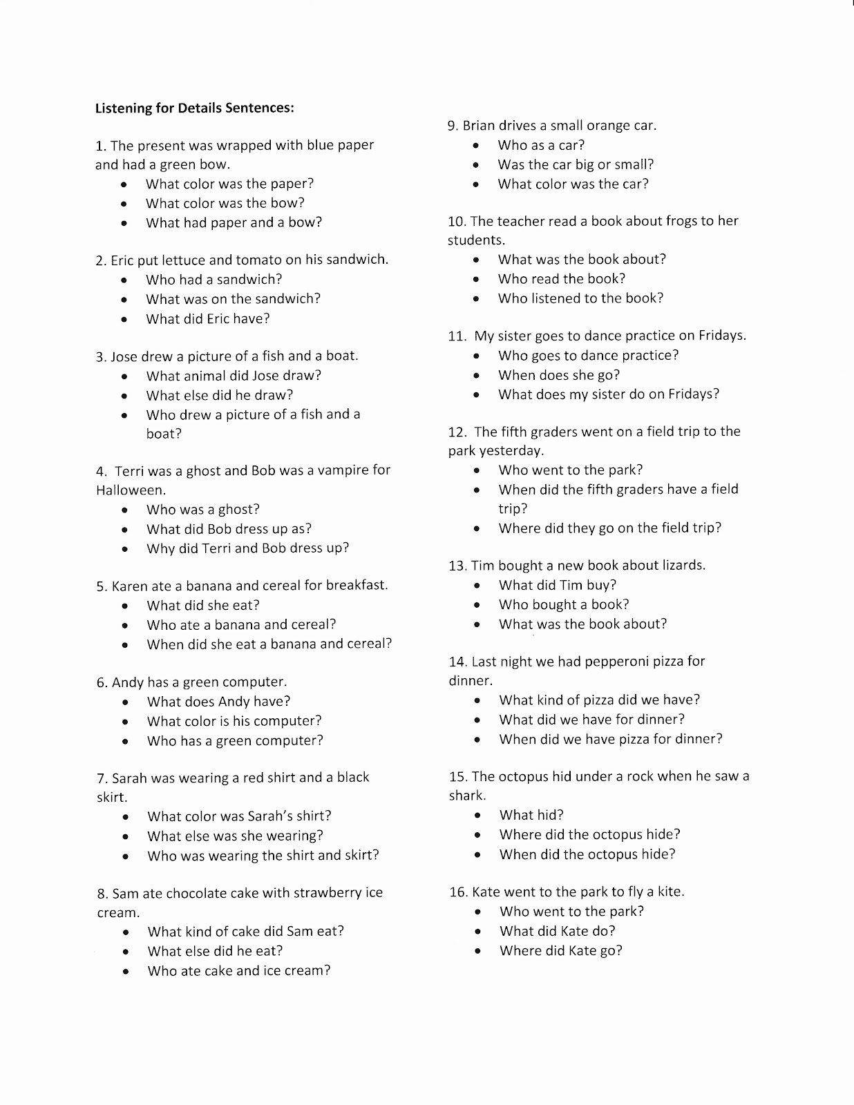 Liz S Speech Therapy Ideas Wh Questions Part Two